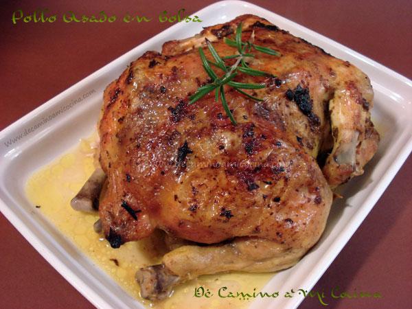 Pollo asado en bolsa de asar   De Camino a Mi Cocina
