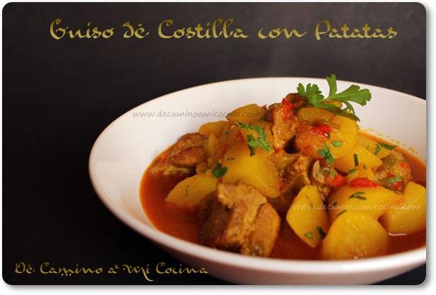 Patatas Guisadas Con Costilla De Camino A Mi Cocina